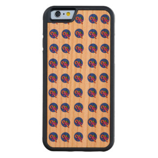 Candy Cane and Holly Repeat Pattern Carved® Cherry iPhone 6 Bumper Case