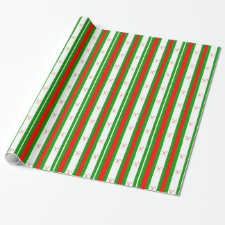 Candy Cane and Stripes Gift Wrap Wrapping Paper