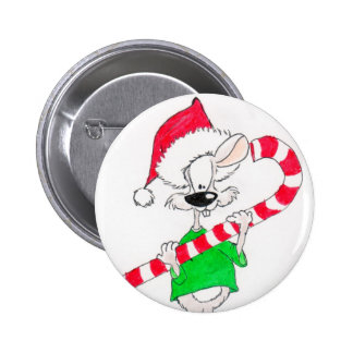 Candy Cane Pinback Button