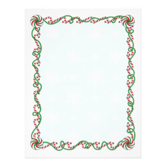 Candy Cane Border 21.5 Cm X 28 Cm Flyer
