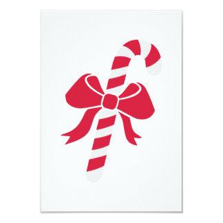 "Candy cane bow 3.5"" x 5"" invitation card"