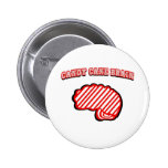 Candy Cane Brain Buttons