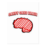 Candy Cane Brain Post Cards