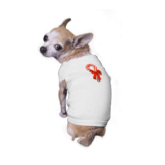 CANDY CANE CHIHUAHUA HOLIDAY DOG! outstanding! Sleeveless Dog Shirt