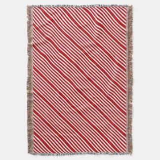 CANDY CANE (Christmas art design) ~ Throw Blanket