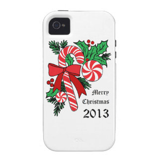 Candy Cane Christmas iPhone 4 Cases