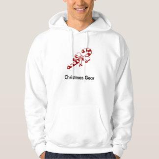 Candy Cane Christmas Gear Hooded Sweatshirt