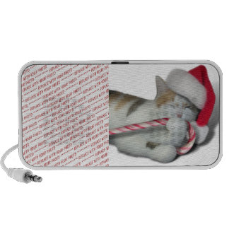 Candy Cane Christmas Kitty Mp3 Speakers