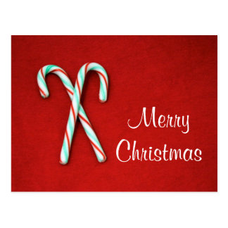Candy Cane Christmas Postcard