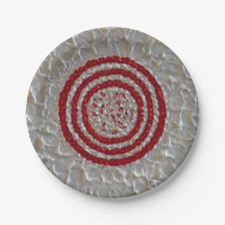 Candy Cane Chrysanthemum 7 Inch Paper Plate