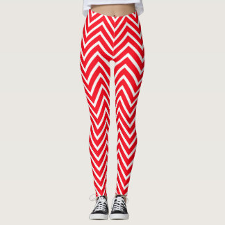 Candy Cane Colored Leggings