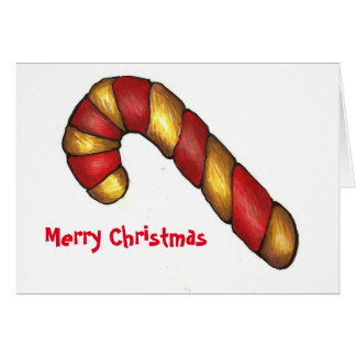 Candy Cane Cookie Christmas Cards