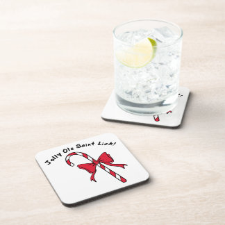 Candy Cane Beverage Coasters
