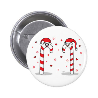 Candy Cane Couple - Button