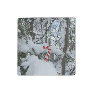 Candy Cane Decoration Stone Magnet