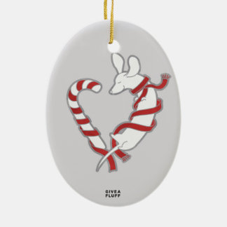 Candy Cane Doxie Christmas Ornament
