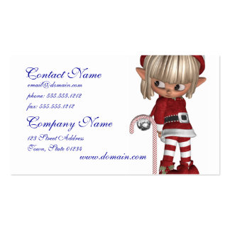 Candy Cane Elf Business Card Templates