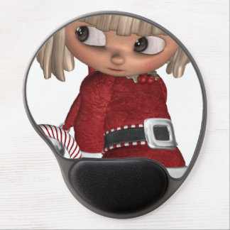 Candy Cane Elf Gel Mouse Mat