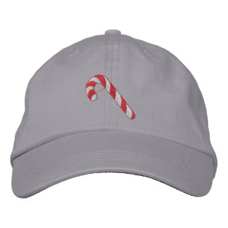 Candy Cane Embroidered Hat