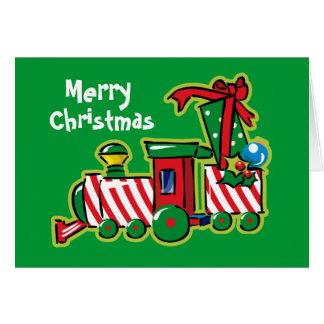 Candy Cane Express Custom Greeting Card