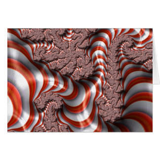 Candy Cane Fractal Greeting Card