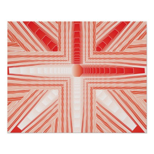 Candy Cane Fractal Poster
