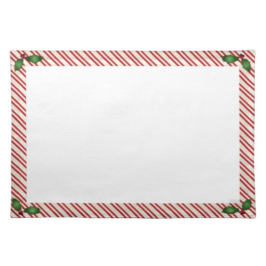 Candy Cane Frame Cotton Placemats