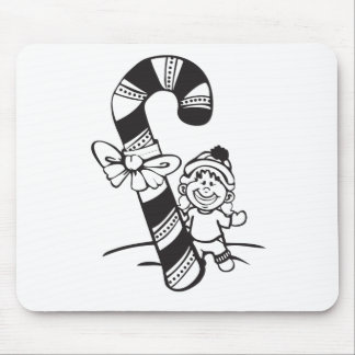 Candy Cane Girl Mousepads