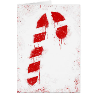 Candy Cane Graffiti Card