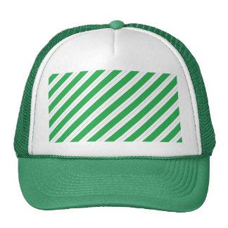 Candy Cane Green Stripes Cap