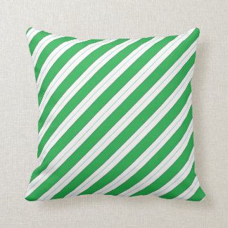 Candy Cane Green Stripes Cushion