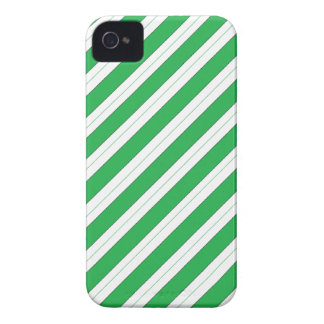 Candy Cane Green Stripes iPhone 4 Cases
