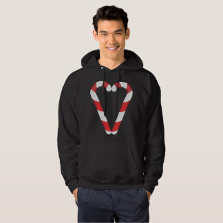 candy cane heart mens hooded hoodie sweatshirt