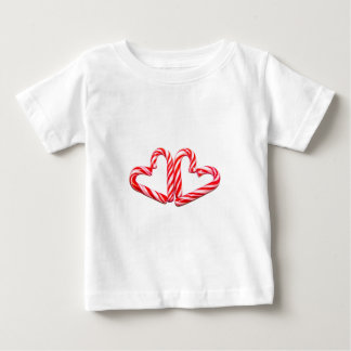 Candy cane hearts baby T-Shirt