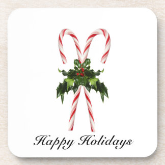 Candy Cane Holiday Cork Coaster