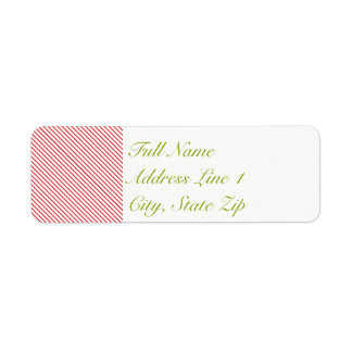 Candy Cane Holiday Return Address Label