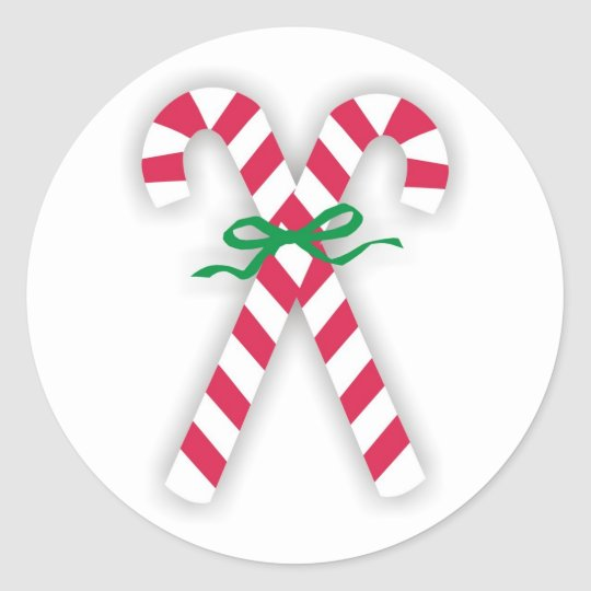 Candy Cane Holiday Stickers