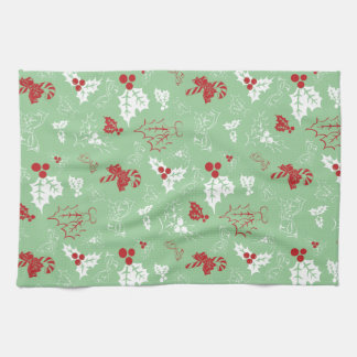 Candy Cane Holly | Holiday Kitchen Towel