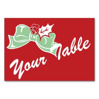Candy Cane Holly | Retro Custom Table Card
