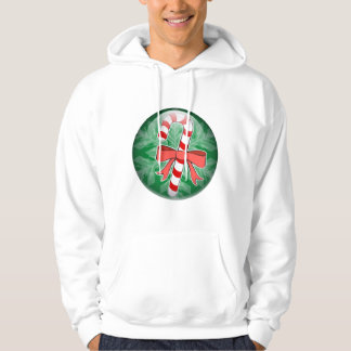 Candy Cane Hooded Pullover