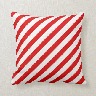 Candy Cane & Horizontal Red Stripes Pillow
