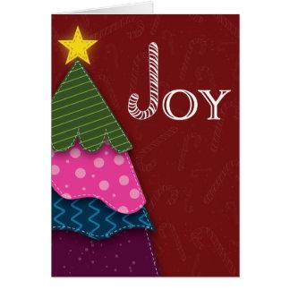 Candy Cane Joy Christmas Tree Photo Card