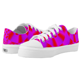 Candy Cane Kickers Custom Low Top Shoes Printed Shoes