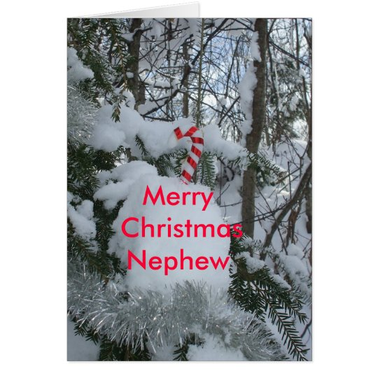 Candy Cane-Merry Christmas Nephew Card