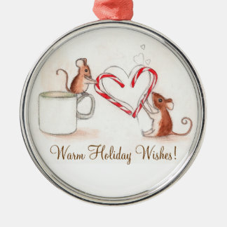 Candy Cane Mice Christmas Ornament