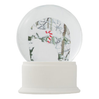 Candy Cane Outdoor Decoration Snow Globes