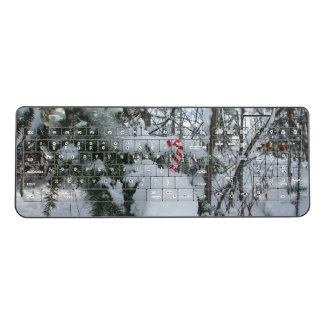 Candy Cane Outdoor Decoration Wireless Keyboard