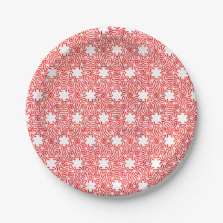 Candy Cane Paper Plate