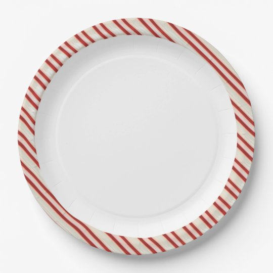 Candy Cane Paper Plates