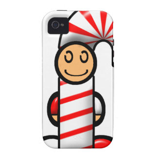 Candy Cane (plain) Vibe iPhone 4 Cover